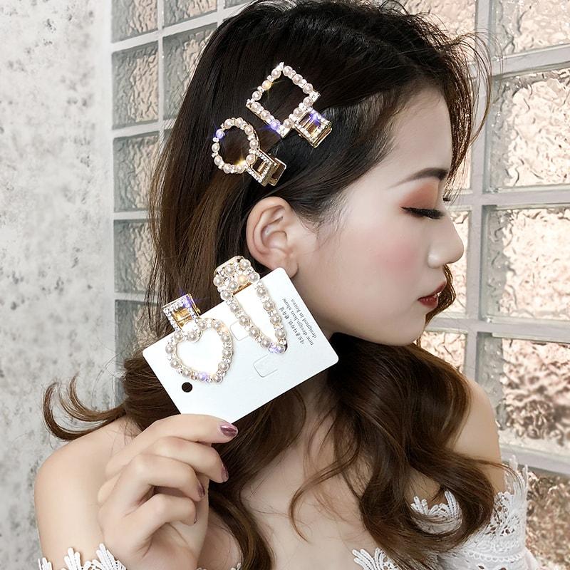 幾何夢幻女款髮飾髮夾