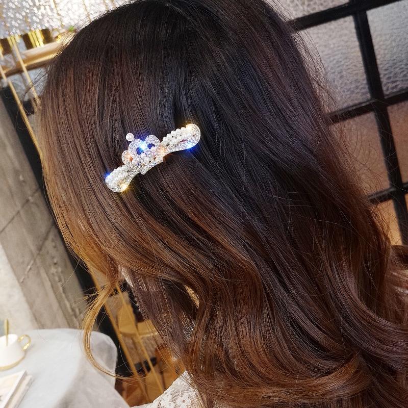 皇冠葉子珍珠髮夾