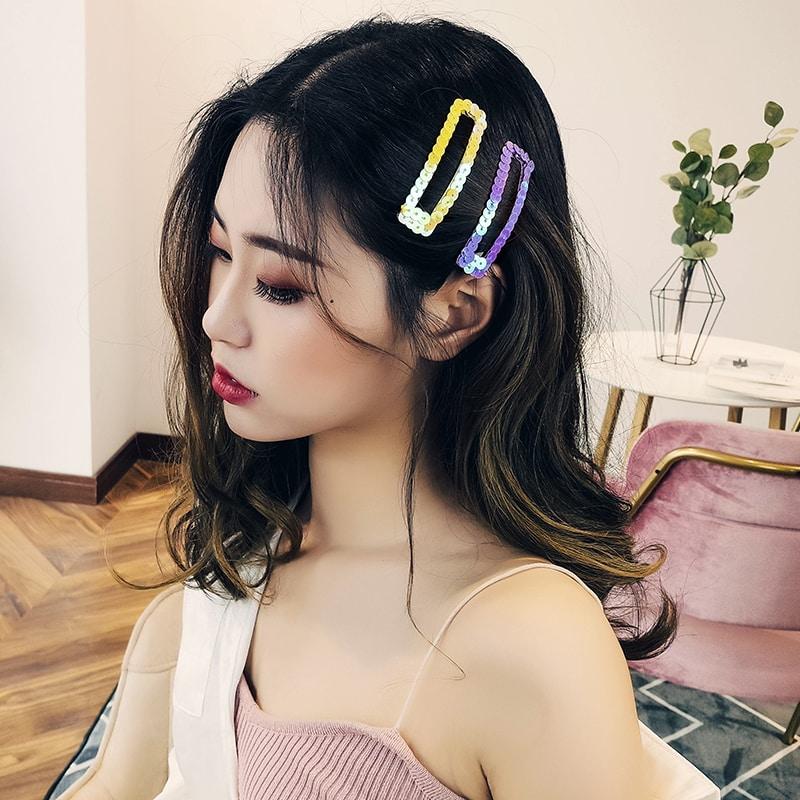 日韓風糖果色一字夾髮夾